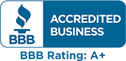 Better Business Bureau Accredited Business - A+ rated